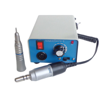 Brand Saeyang Marathon3/M33Es Micromotor Polisher 35000 RPM with Dental Straight Handpiece for Skin or Denture Surgery Polishing