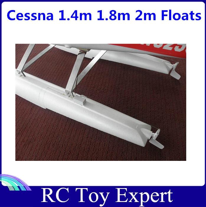 1.4 m 1.8m 2.0m Cessna 182 185 RC Airplane Parts Pontoon Water Shoes Floats