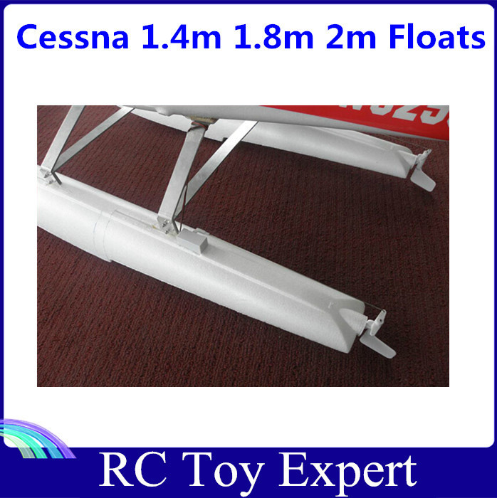 Suit for 1.4 m 1.8m 2.0m Cessna 182 RC Airplane Parts Pontoon Water Shoes Floats image