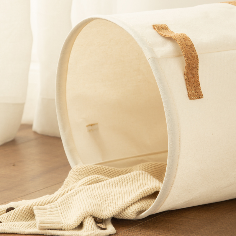 Laundry basket canvas in brown paper 2