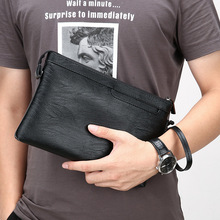 NPASON 2019 Fashion Men Soft PU Day Clutch Bag Leather Envelope Bags Evening Male Clutches Handbag