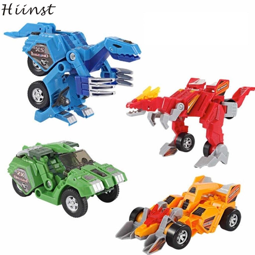 HIINST Robot Transformer-Robot Anime Figurine Mini Dinosaur Automatic Baby-Girls Children