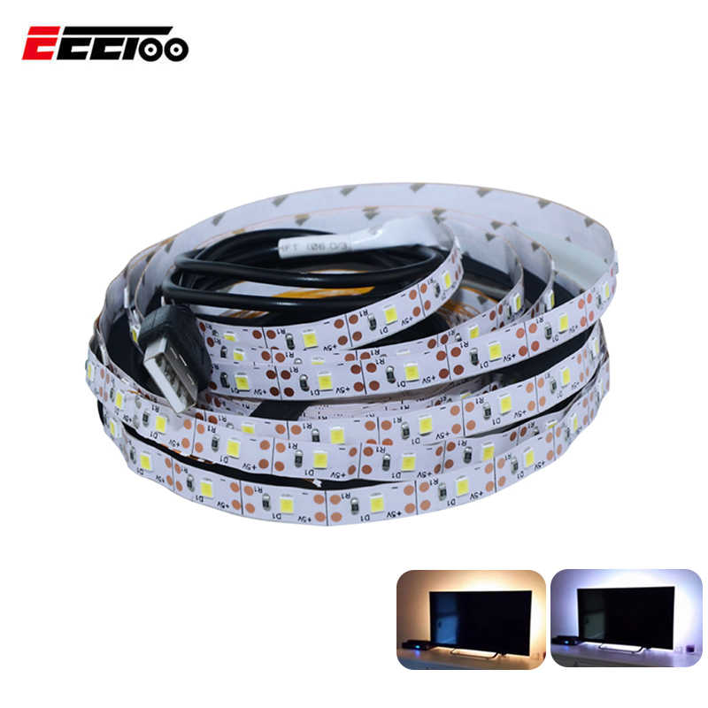 Светодиодный светильник под шкаф белый/теплый белый Светодиодная лента 60 светодиодный s/m гибкий светодиодный кухонный шкаф 5 в USB Порт ТВ ПОДСВЕТКА