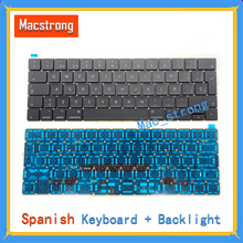 Brand New Original 12″ A1534  Retina Spanish Keyboard For Macbook Pro 13″ A1706/A1707/A1708 SP Keyboard With Backlight 2016 2017