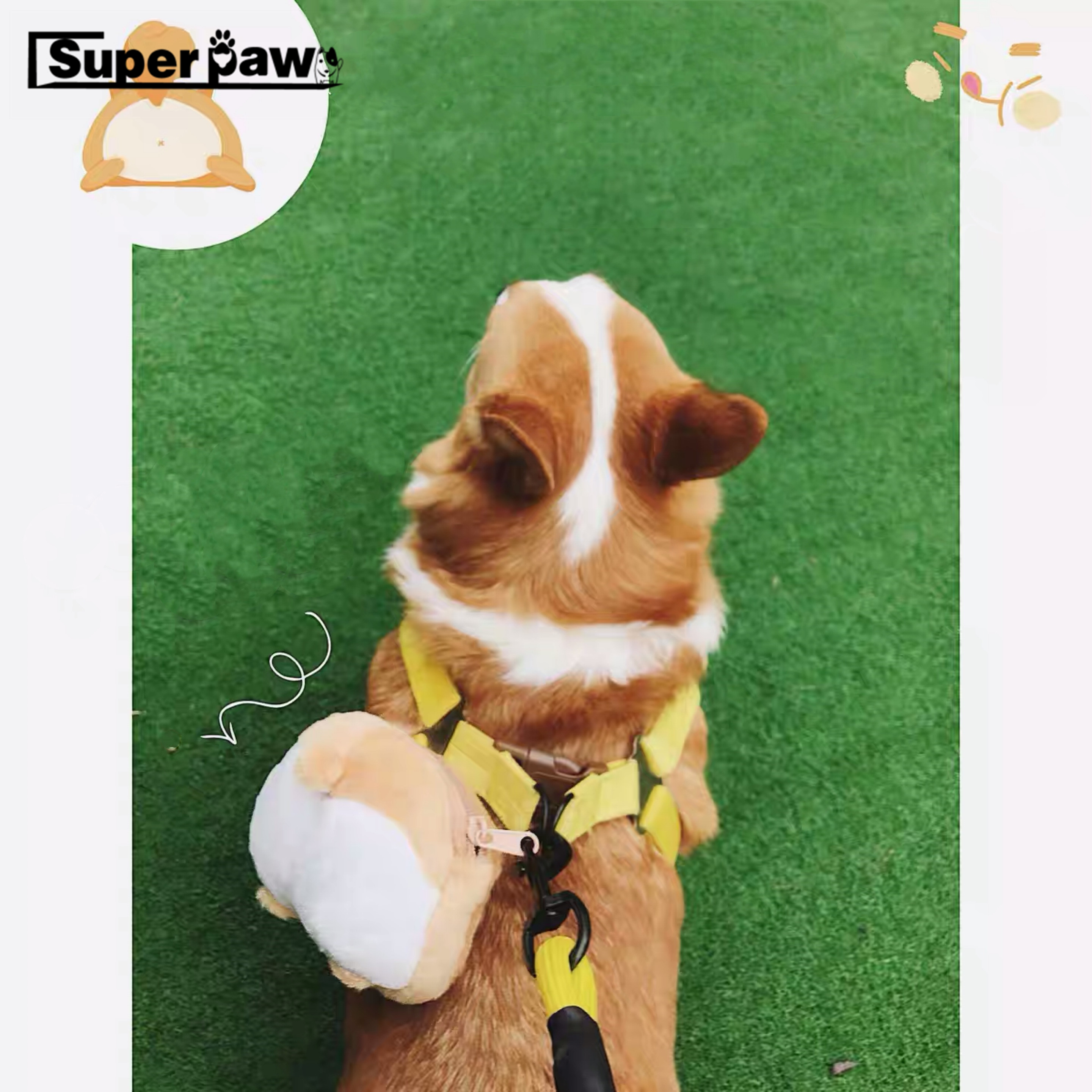 Adorable Dog little backpack Carrier New Novelty Pet Backpack Adjustable Cute Corgi Butt Pocket For Puppy Small Dogs GZB01