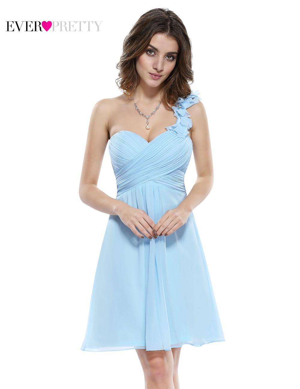 Сексуальная одно плечо шифон мода привет низкий вечерние платья HE08100CO больше цвета мода свадебные платья - Цвет: EP03535BL
