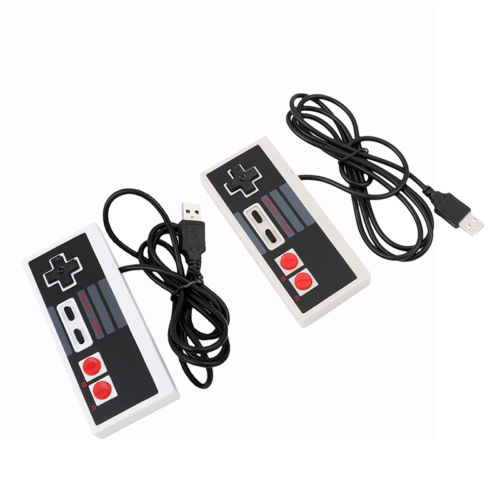 2 pcs de Jeu USB Controller Gamepad pour Nintendo NES Retrolink Windows PC Mac
