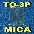 ( 50 unids/lote ) TO-3P Transistor Mica aislante, lámina de aislamiento