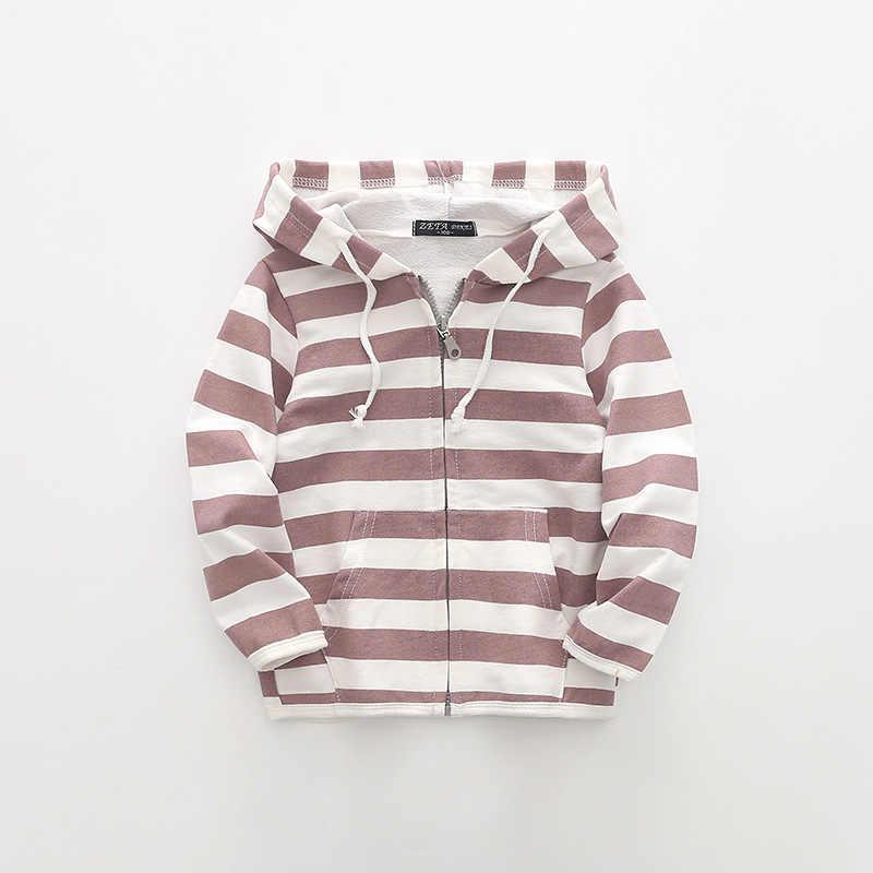אביב תינוק ילד ילדה מעיל כותנה מזדמן מעיל הלבשה עליונה 2018 סתיו פסים ילדים בני קטים בנות ילד בגדים