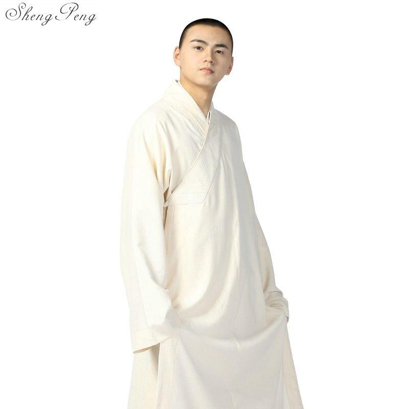 Moine bouddhiste robes hommes traditionnel Bouddhiste Shaolin uniforme vêtements Chinois Shaolin monk peignoirs V794