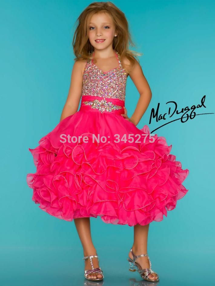 Popular Little Girls Yellow Short Pageant Dresses-Buy Cheap Little ...
