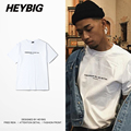 Words of Consolation T-shirts cotton High quality Tops HEYBIG Men hip hop tee shirt Chinese Size clothing