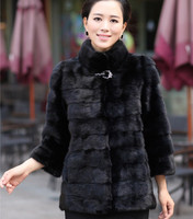 The Winter Fashion New Ladies Plus Size Wear Knitted Fake Fur Long Maxi Coat For Women