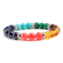Fashion 7 Chakra Bracelet Women Men Natural Stone Bracelets Male Fitness Yoga  Healing Balance Beads Reiki Prayer Jewelry Gifts