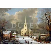5D DIY Diamond Embroidery Diamond Painting Full Square/Round Drill church 3D Rhinestone Home Decor HYY