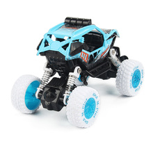 1:32 Mini Alloy Inertia Toy Car Pull Back Vehicles Toy Car for Children Big Wheel Alloy Body Non RC Vehicle