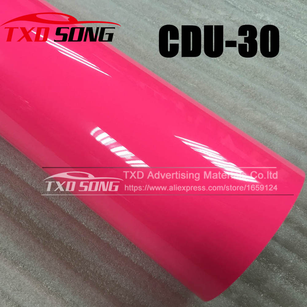Premium quality NEON PINK CDU 30 Closing PU transfer heat film for cutter plotter using with size:0.5x25m/roll by free shipping