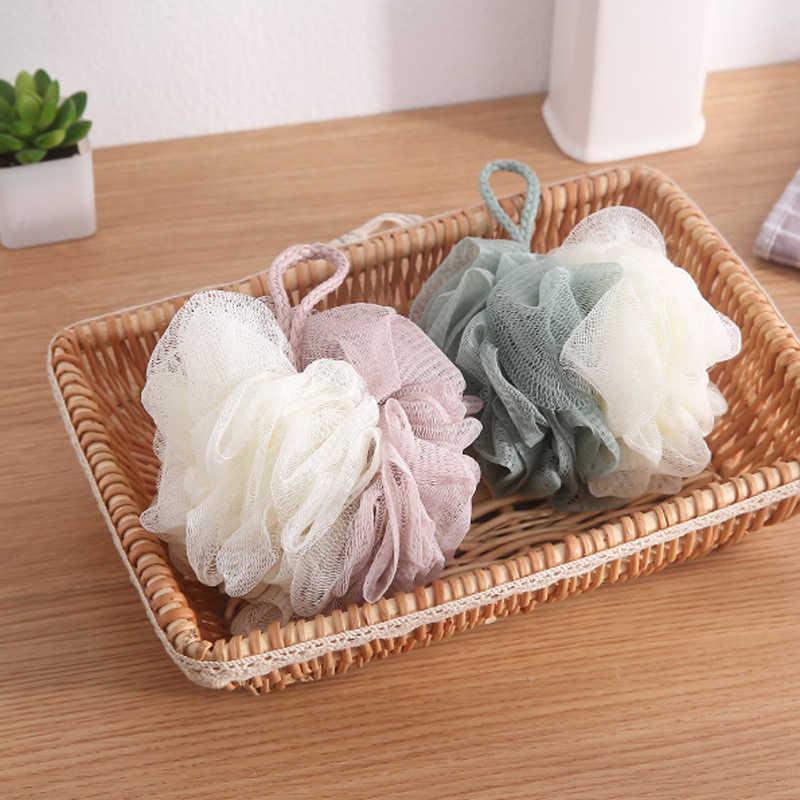 Moda piłka do kąpieli wanny do kąpieli fajna piłka ręcznik do szorowania czyszczenie ciała gąbka z siateczki pod prysznic produkt 11cm
