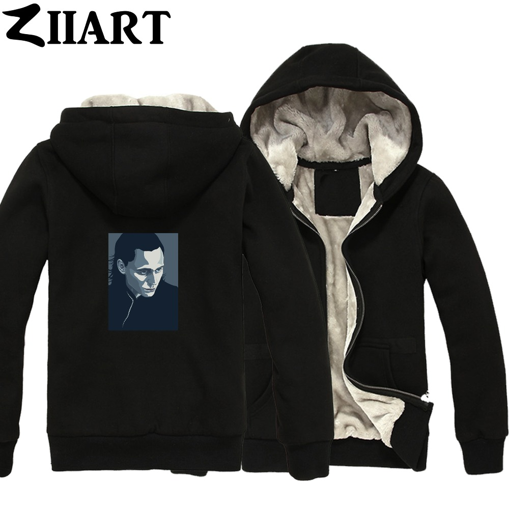 loki vector clip art tom hiddleston Couple Clothes Boys Man Male Full Zip Autumn Winter Plus Velvet   Parkas   ZIIART