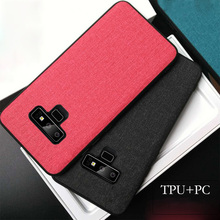 Ikrsses For Samsung Galaxy Note 9 Case Luxury Fabric business Cloth PC and Tpu Case For Samsung Note 9 Hard Capa Back Case s style protective tpu back case for samsung galaxy note 3 n9000 white