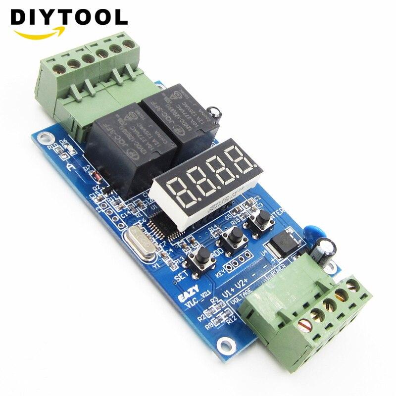 12 V Relais Control Controller Board Dual Programmierbare Relais Modul Zyklus Verzögerung Timer Timing Clock Schalter Modul Hohe Leistung Ideales Geschenk FüR Alle Gelegenheiten