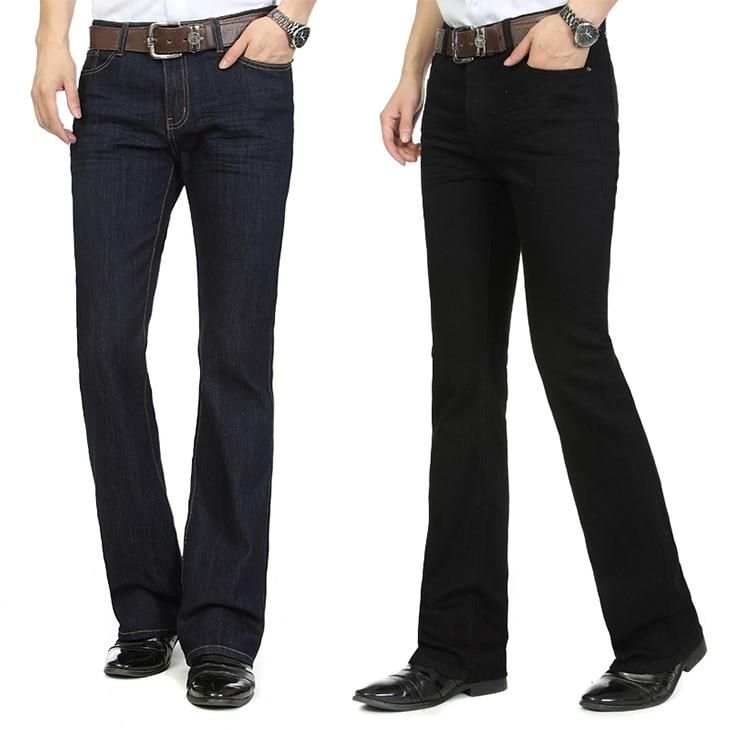 Mens Flared Leg   Jeans   Trousers High Waist Long Flare   Jeans   For Men Bootcut Black   Jeans   Hommes bell bottom   jeans   men