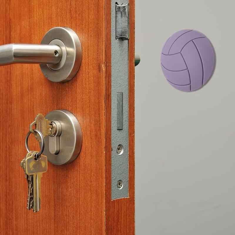 Ручка для дома противоскользящая дверная накладка круглая настенная Защитная Клейкая ручка 1 шт. 3D Силиконовая горячая Распродажа дверная ручка бампер краш-накладка
