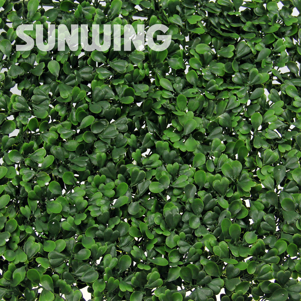 Plastic Artificial Boxwood Hedge Panels 48pcs 25x25cm Artificial Ivy ...