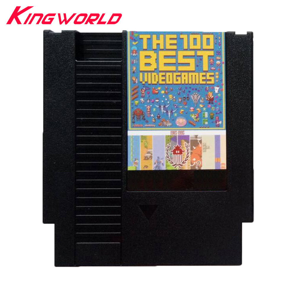 High quality Best Games For NES 72Pins game cartridge 100 in 1 with Dust Sleeve