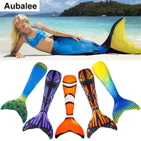 New Kids Girls Adult Mermaid Tail Swimmable Swimwear Cosplay Costume Mermaid Tails Monofin For Woman Swimming