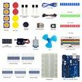 Menor Keywish Básico Starter Kit Para Arduino UNO R3 Starter kit Sensor De Ensino Kit Com UNO MEGA328 MEGA16 Placa Para crianças