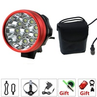 Waterproof 20000 Lumen 10xCREE XML T6 LED Cycling Bicycle Bike Light Lamp HeadLight +36000mAh 8.4V Battery Pack +Charger
