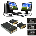 3 in 1 USB 2.0 UGA to DVI VGA HDMI Multi Display Monitor Converter Connector Graphic Adapter for Windows Macbook PC Laptop HDTV