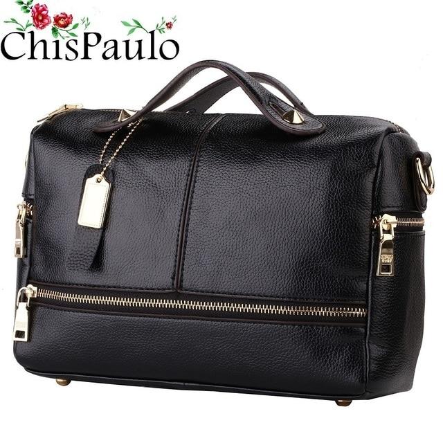 ce15b72e665a Chispaulo Famous Brands Designer Handbags High Quality Cowhide Women  Genuine Leather Handbags Vintage Women Messenger Bags