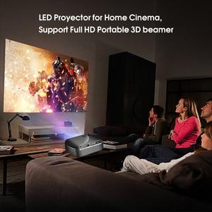 Image 4 - Tragbare F10 MINI Projektor 1920*720P Auflösung LED Projektor Für Home Cinema Unterstützung Full HD Tragbare 3D Beamer EU/Us stecker