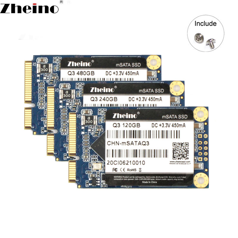 Zheino SSD mSATA 120 GB 240 GB 480 GB 128 GB 256GB 512 GB 6 GB/S SATA3 ssd interna sólida unidad de estado discos para computadora portátil de escritorio