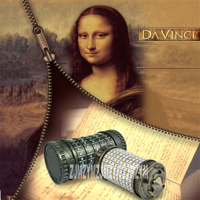 The Da Vinci Code lock lock code 4/5 alphabetical Room tank top box props true storage and own game Room Escape props 27mm