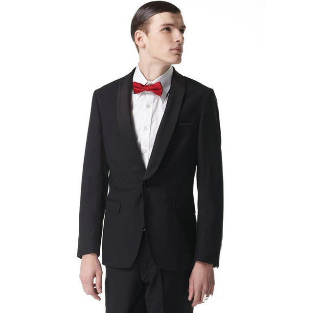 2017 Real Sale Grooms Tuxedos Wedding Suits For Men Shawl Lapel Mens ...