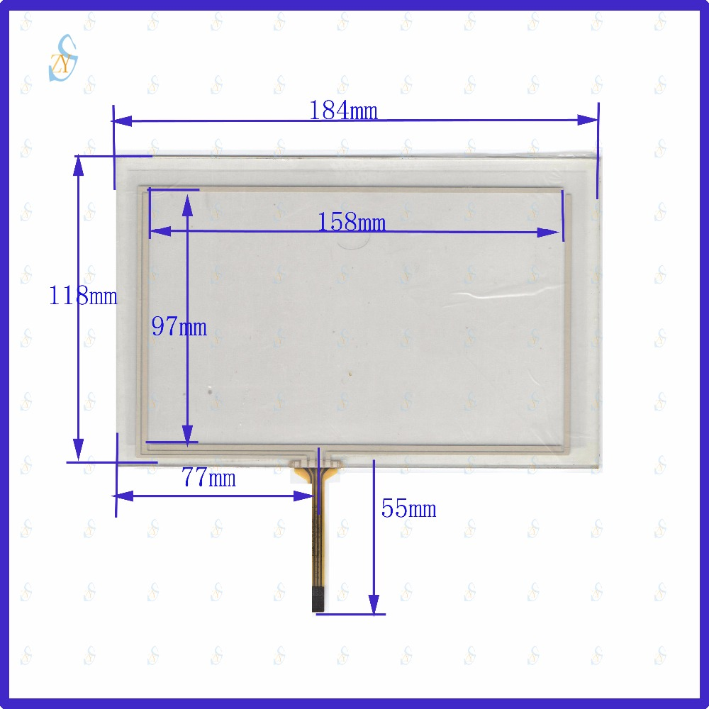 ZhiYuSun 184mm*118mm KDT-4287 8inch 4-wire resistive touch panel for Car DVD, 184*118 GPS Navigator screen glass zhiyusun 192mm 116mm kdt 6259 8inch 4 wire resistive touch panel for car dvd 192 116 gps navigator screen glass
