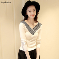 DRL 2018 Simplee V Neck Cross Knitting Winter Sweater Women Fashion Pullover Female New Autumn Winter