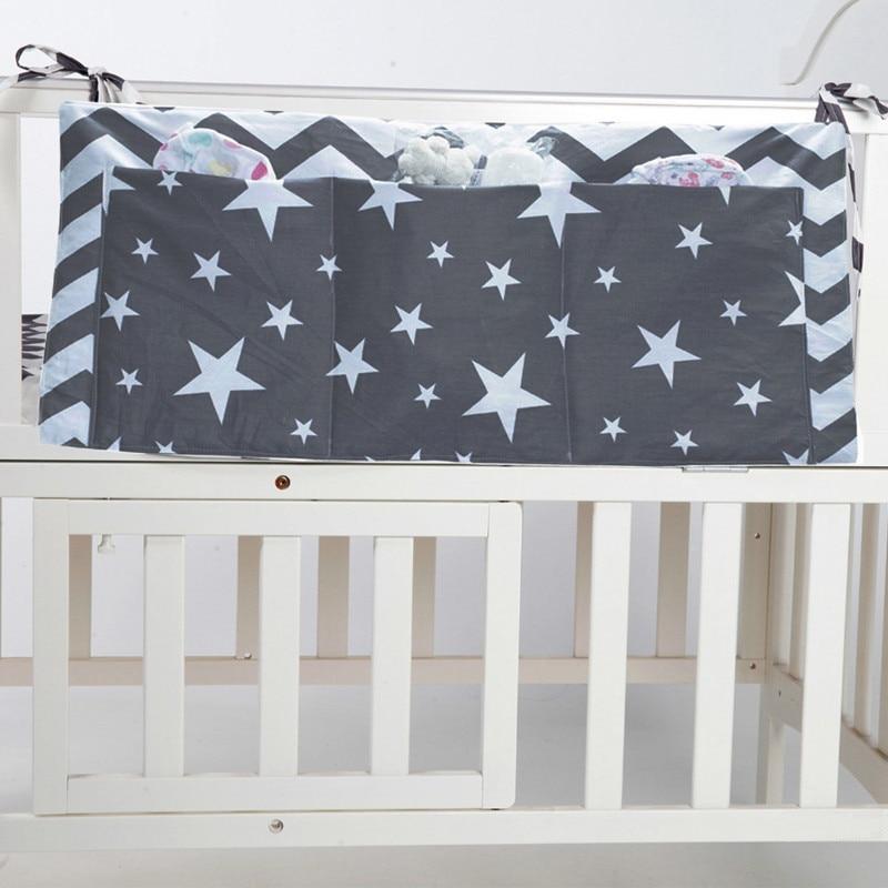 30x70 детская кровать висит сумка для хранения из хлопка для новорожденных органайзер для игрушек пеленки карман для кроватки Постельное бел... ...