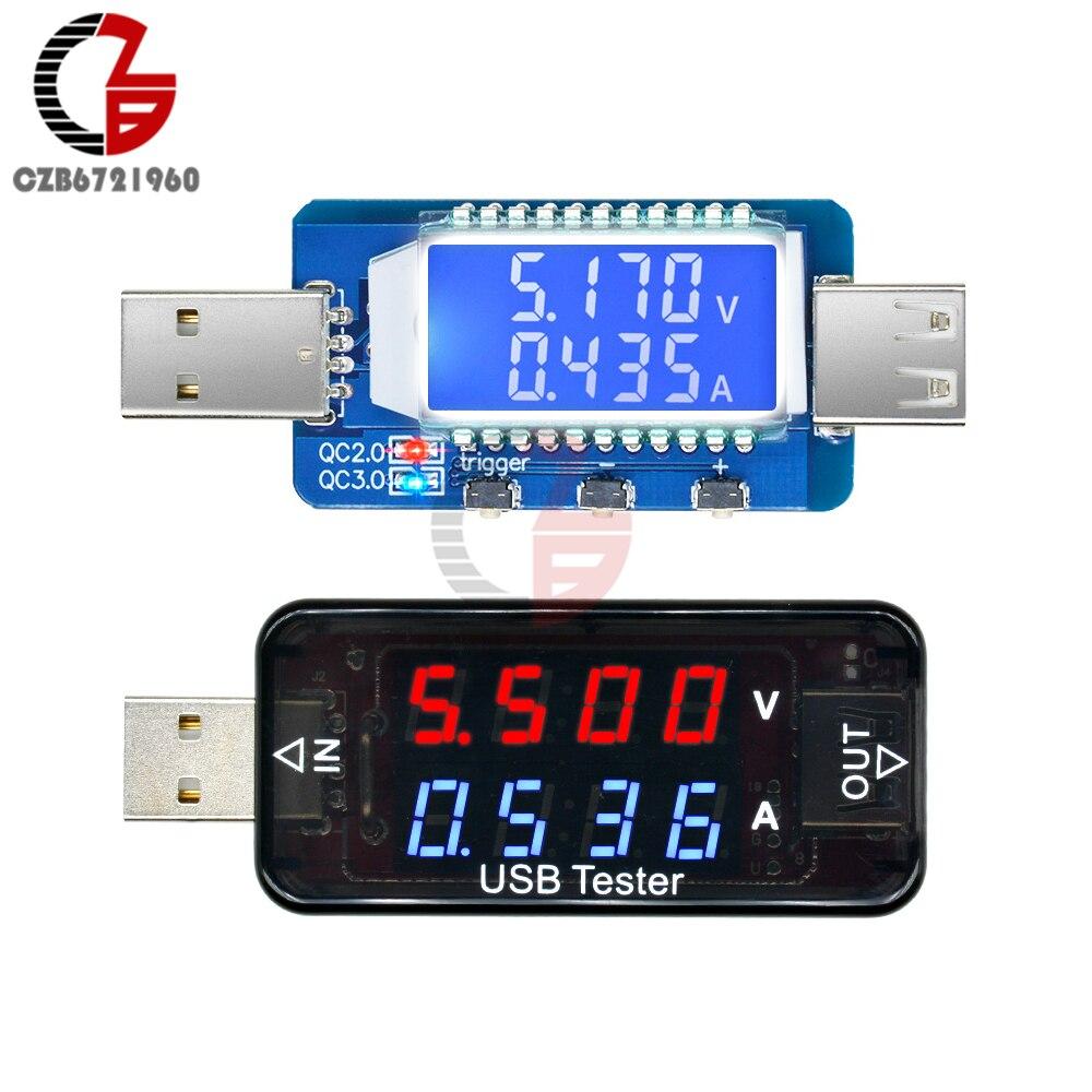 QC3.0 QC2.0 USB тестер цифровой вольтметр Амперметр умный триггер напряжение измеритель тока детектор монитор для автомобиля мобильный Банк питания Измерители напряжения      АлиЭкспресс