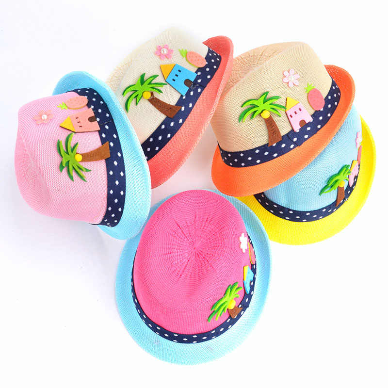 34d7a077500 Lovely Summer Baby Bucket Hat Panama Children From The Sun Boy Girls  Breathable Hat Casual Boho