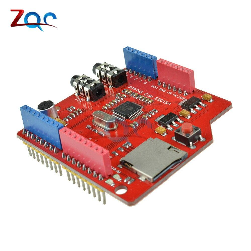 VS1053 VS1053B Dual Stereo Audio MP3 Player Shield Record Decode Development Board Module TF Card Slot For Arduino UNO R3 One