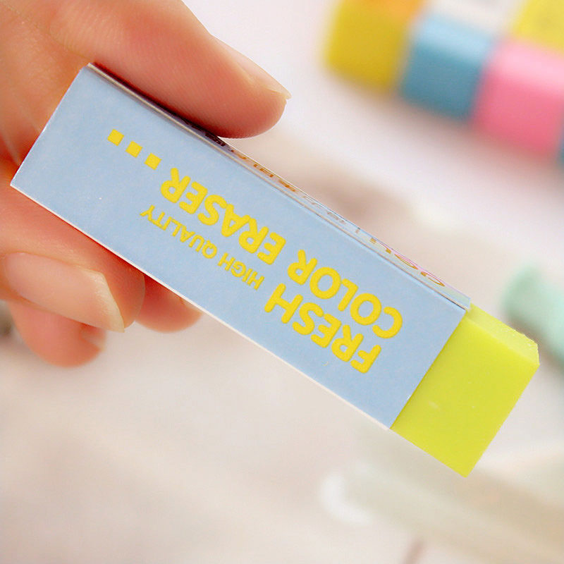 Купить с кэшбэком 1x  Sweet candy color eraser school office rubber eraser special painting classic old brand eraserGive your child a reward gift