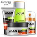 H2o8 homens cuidados com a pele 4 pcs conjuntos de limpeza profunda refrescante hidratante hidratante Oil Control diminuir os poros Face Care
