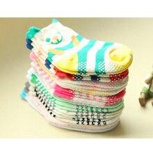 Весенне-осенние хлопковые носки для малышей нескользящие носки для детей с персонажами из мультфильмов носки для девочки, мальчика,, 6 пар = 12 штук = партия, носки унисекс с рисунком
