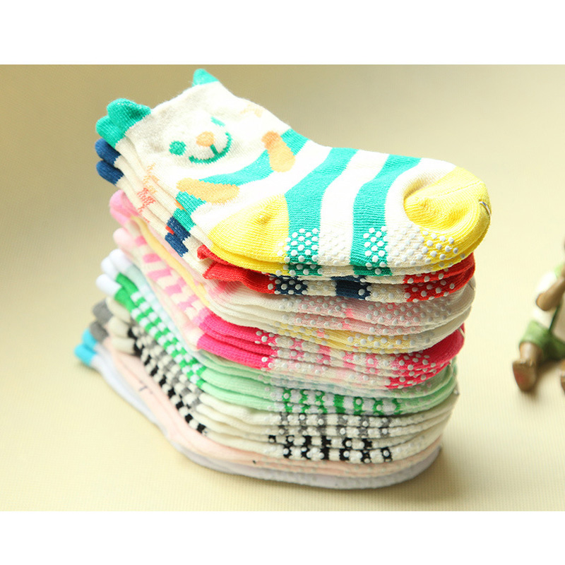 2020 Free Shipping Autumn Spring Cotton Baby Non-slip Children Cartoon Girl Boy Socks Wholesale 6pair=12pc=lot Character Unisex