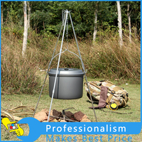 New Outdoor Picnic Cooking Tripod Portable Hanging Pot Camping Tripod Campfire Grill Stand With Storage Bag