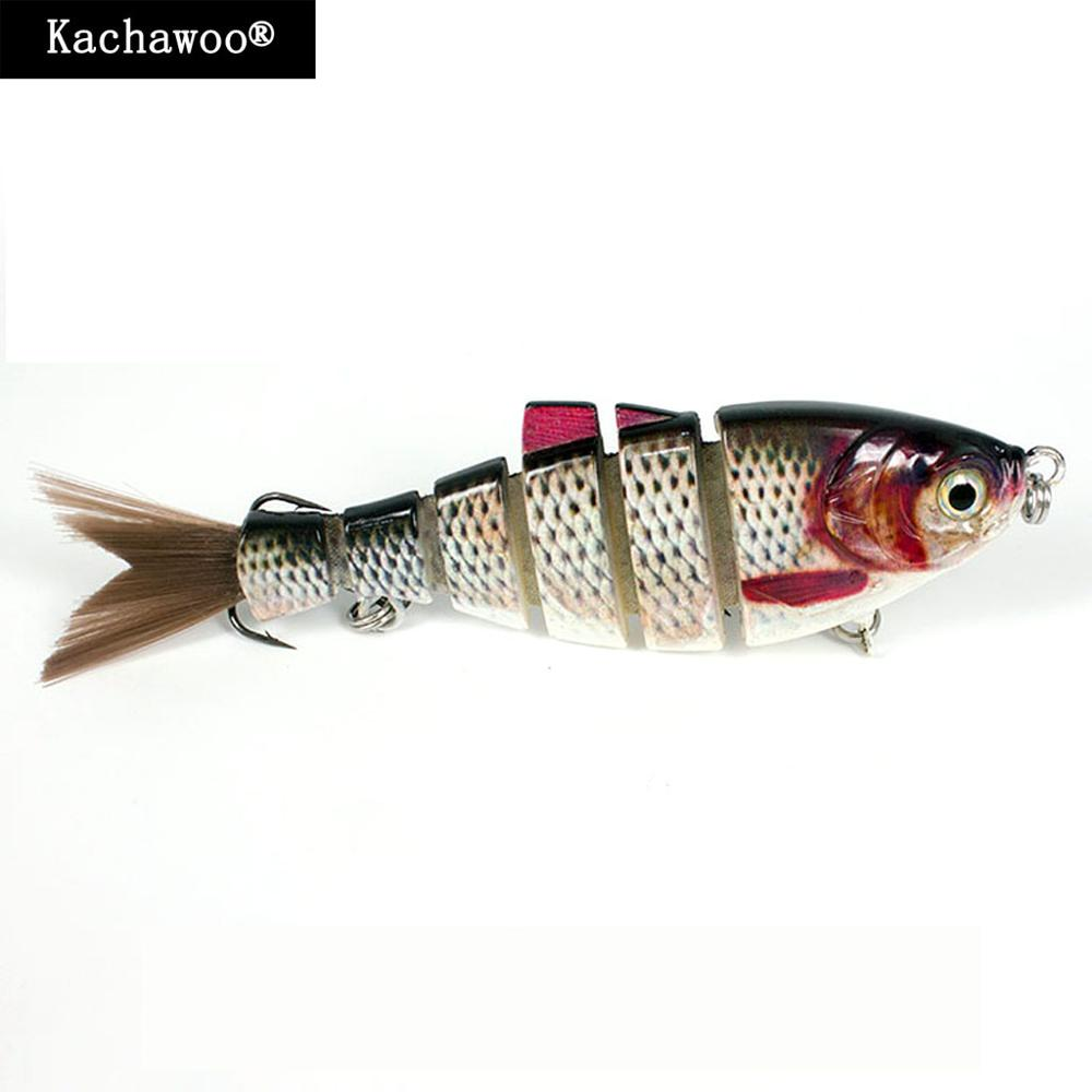 Shad Hard Fishing Lure Hair Tail 6 inch 68g Multi Jointed Wobblers 6-segement Fishing Bait Vib Sinking Lifelike River Swimbait